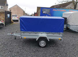 BRAND NEW SINGLE AXLE TRAILER- CAMPING TRAILER WITH FRAME AND COVER (80cm) TIPPING 7.7x4.2