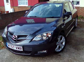 Mazda MAZDA 3, 2007 (57) Grey Hatchback, Manual Petrol, 87,000 miles
