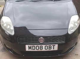 Fiat Grande Punto, 2008 T-jet Black Hatchback, Manual Petrol, 96,719 miles