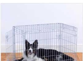 Medium grey pets at home dog cage