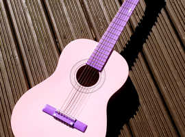 Girls Pink Acoustic Guitar £5