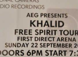 Khalid concert tickets X 3
