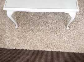 Grey Painted Glass Top Coffee Table