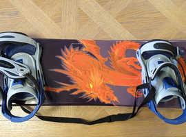 Dakine Nidecker Snowboard With Adjustable Boots, 165 cm- in Excellent Condition