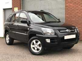 Kia Sportage 2.0 XR 4WD, in Black, Very Very Low Miles, Fabulous Service History, Excellent Example
