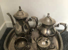 Silver plated 5 piece tea and coffee set