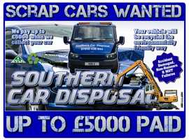 Scrap Cars, Vans & 4x4s Wanted - Accident Damaged, Non-Runners & MOT Failures Collected