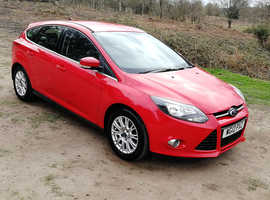 FORD FOCUS TITANIUM TURBO 1L, 2012 REG, LONG MOT, LOW MILEAGE, FULL HISTORY, TOP SPEC & ONLY £30 A YEAR TO TAX