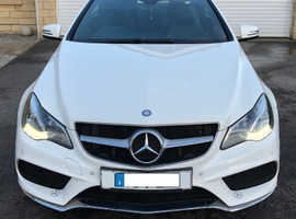 Mercedes E Class, 2014 (14) White Coupe, Automatic Diesel, 46,000 miles