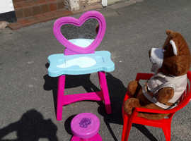 KIDDIES DRESSER & MY LITTLE PONY STOOL & CHAIR & YOGI BEAR
