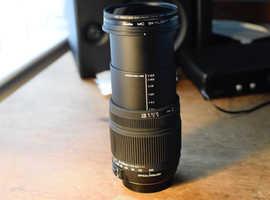 Sigman Lens for Nikon camera