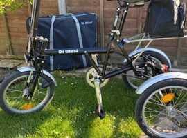 Adult Di Blasi lightweight folding tricycle Mod R31 Black.
