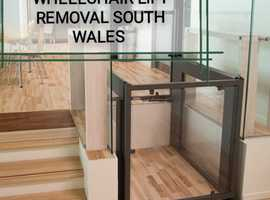 Lift Removal services wheelchair platform through floor