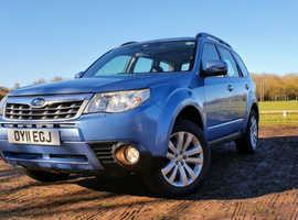 Subaru Forester, 2011 (11) Blue Estate, Automatic Petrol, 125,649 miles