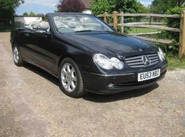 Mercedes CLK 240 AVANTGARDE, 2003 (53) black convertible, Manual Petrol, 169082 miles