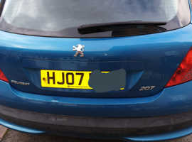 Peugeot 207, 2007 (07) Blue Hatchback, Manual Petrol, 101,200 miles