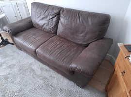 FREE   Faux leather 3 seater sofa