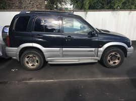 Suzuki Grand Vitara, 2005 (05) Black Estate, Manual Diesel, 94,565 miles