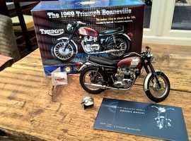 Triumph Bonneville 1969 Franklin mint scale model