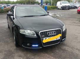 Audi A4, 2008 (08) Black Convertible, Cvt Petrol, 140,000 miles
