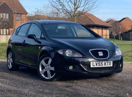 Seat Leon, 2005 (55) Black Hatchback, Manual Diesel, 148,320 miles, NEW 12 MONTH MOT