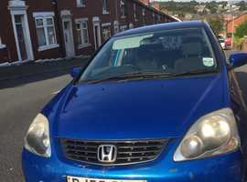 Honda Civic, 2005 (55) Blue Hatchback, Manual Petrol, 173,983 miles