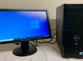 Dell Vostro Computer Desktop Tower PC & LG LCD 19 Widescreen