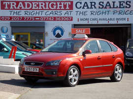 2007/57 Ford Focus 1.6 Zetec Climate finished in Tango Red Metallic One owner, 50,223 miles