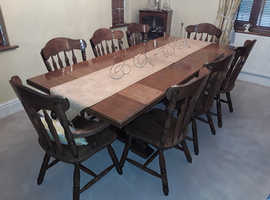 Dinning Room Table & Eight Chairs