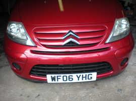 Citroen C3, 2006 (06) Red Hatchback, Manual Petrol, 50,310 miles bodywork in excellent condition 9months mot