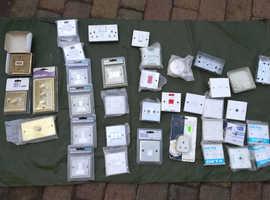 Job Lot Electrical Sockets Most New & Metal
