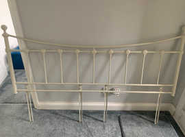 Superking Cream Metal Headboard (from Next) with fittings.