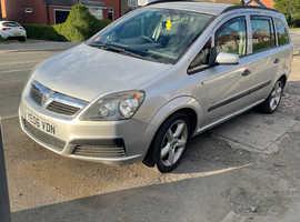 Vauxhall Zafira, 2006 (06) Silver MPV, Manual Petrol, 105,700 miles