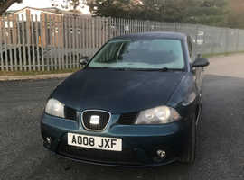 Seat Ibiza, 2008 (08) Blue Hatchback, Manual Petrol, 95,000 miles