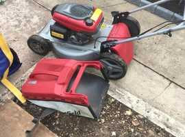very good condition mountfield with the honda easy start engjne