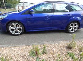 Ford Focus, 2012 (62) ST3 Blue Estate, Manual Petrol, 65,200 miles