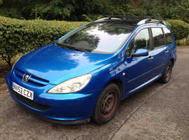 PEUGEOT 307 2.0 HDI 7 SEATER DIESEL ESTATE GOOD RUNNER 5 MONTHS MOT NATIONAL DELIVERY AVAILABLE