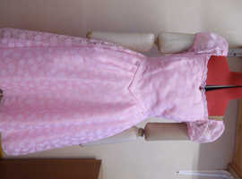 Pink dress homemade Teenage Ladies age 14-15 or ladies sz 10