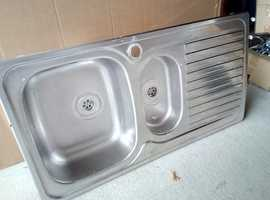 STAINLESS STEEL KITCHEN SINK USED GOOD CLEAN CONDITION