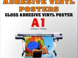 A1 Self Adhesive Vinyl Printed Signs
