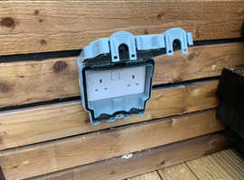 Outside double sockets. Supplied and fitted
