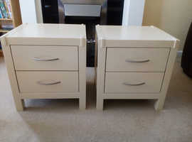 2 newly painted bedside tables