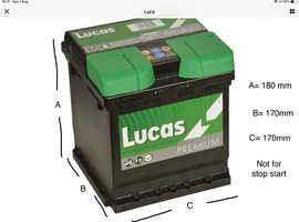 12 v car battery brand new , bought in error