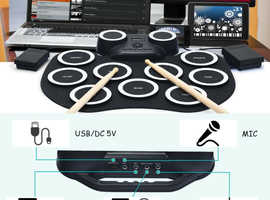 COSTWAY 9 Pads Electronic Digital Roll up Drum MU70011
