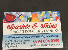 Sparkle & shine Vicky's Domestic cleaning
