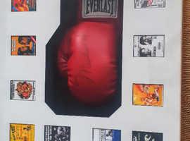 Muhammed Ali signed framed glove.