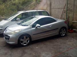 Peugeot 207, 2008 (08) Silver Convertible, Manual Petrol, 62,000 miles