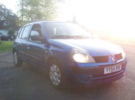 Renault Clio, 2005 (54) Blue Hatchback, Automatic, 1.4 Petrol, 92,000 miles