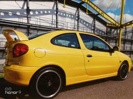 Renault MEGANE COUPE 1.6, 2000 (X) yellow coupe, Manual Petrol, 65,000 miles
