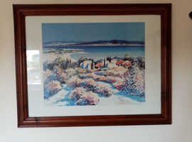 4 x assorted sea scenery pictures and frames